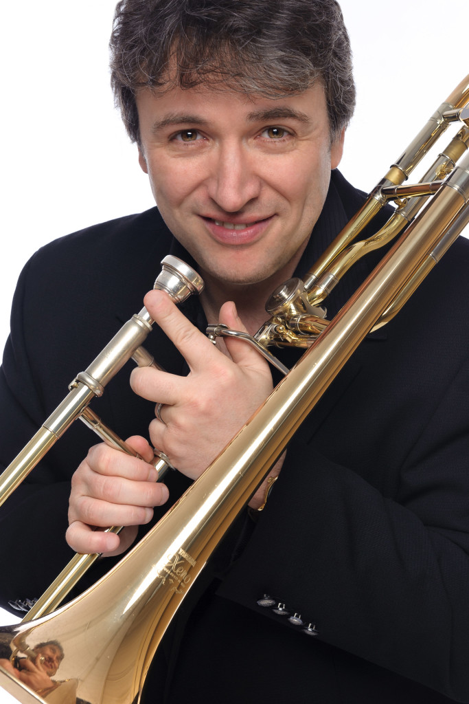 Alain Trudel with trombone