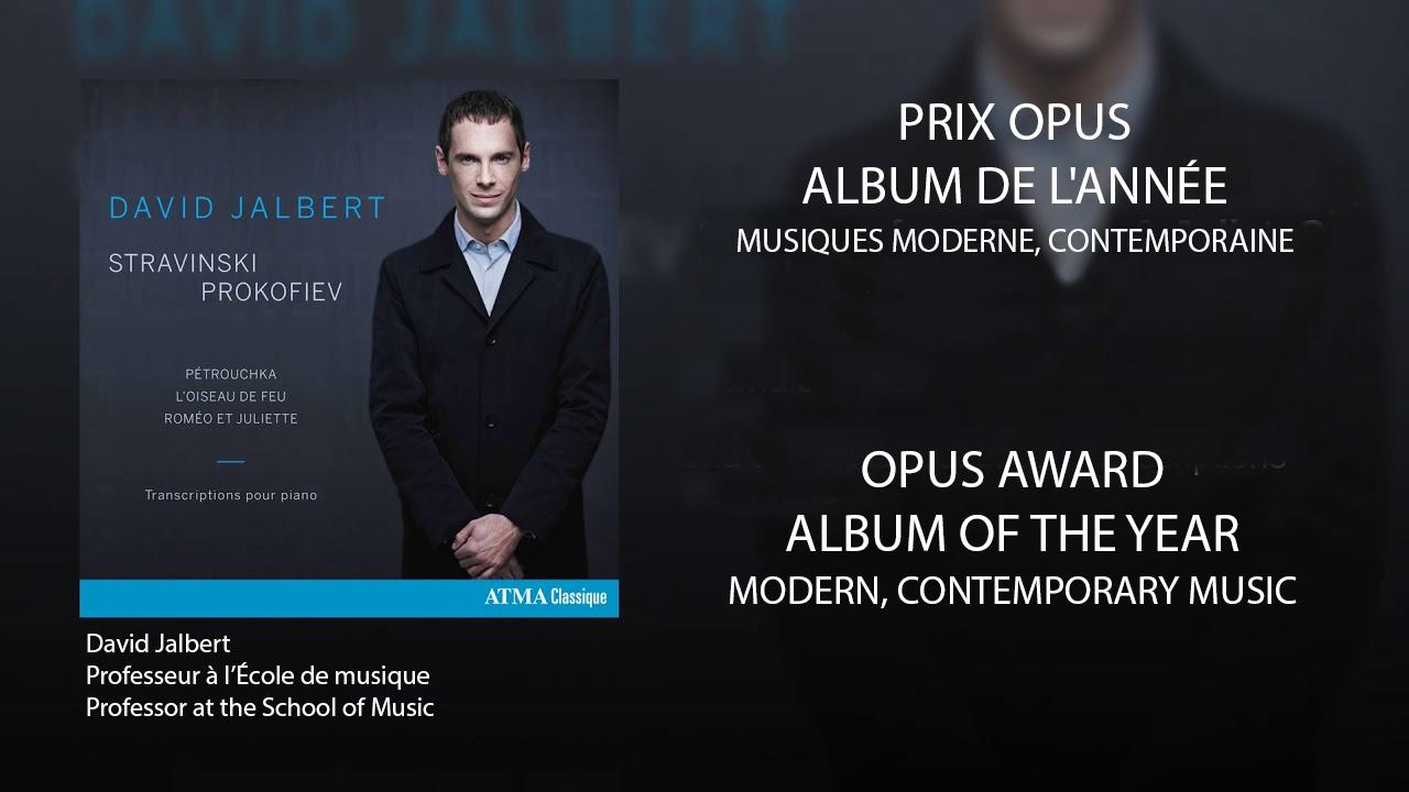 Prix Opus - David Jalbert