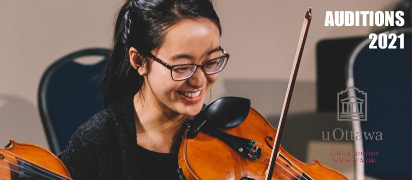 Photo d'une violoniste