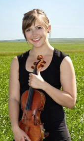 Jessie Ramsay photo, posed with violin