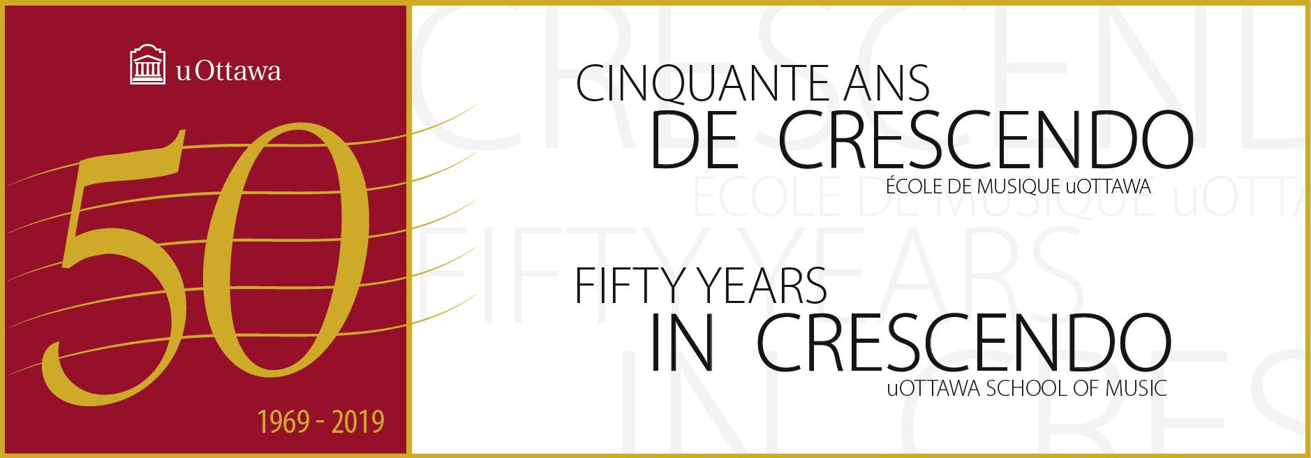 Musique - 50e anniversaire - Crescendo