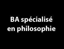 Programme BA spécialisé - Philosophie