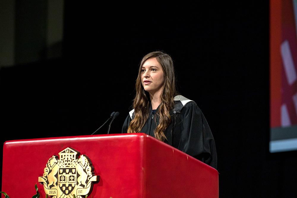 Abigail Roche, Majore de promotion - Collation des grades 2019