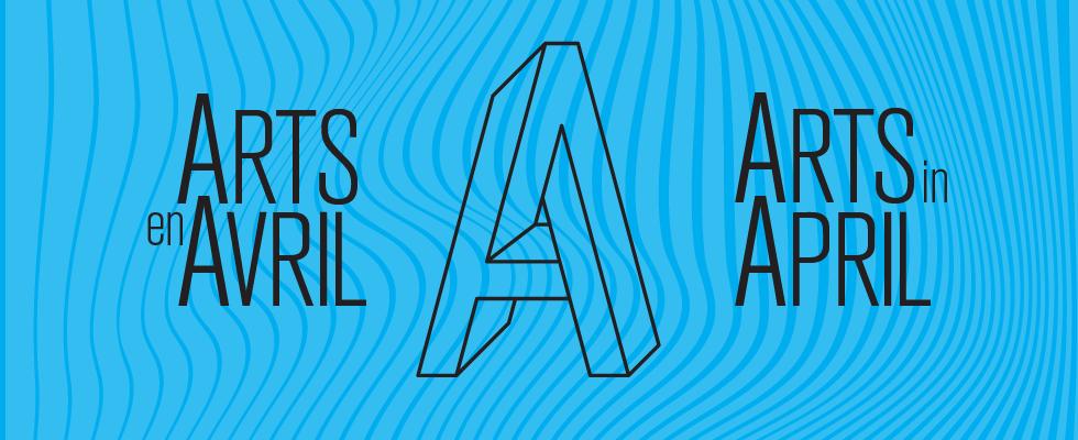 Arts in April - Blue Header
