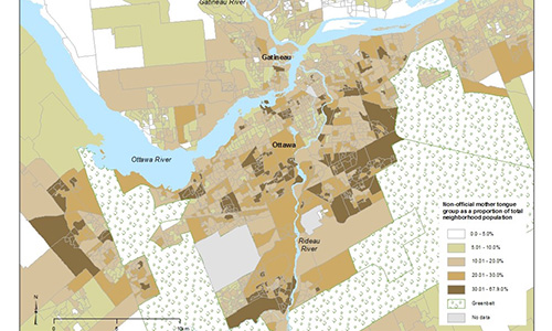 Map of Ottawa Showing its Diversity