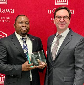Harry Kisoka - Prix d'excellence du personnel administratif 2019 de la Faculté des arts