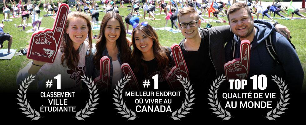 #1 Classement ville étudiante - #1 Meilleur endroit où vivre au Canada - Top 10 Qualité de vie au monde