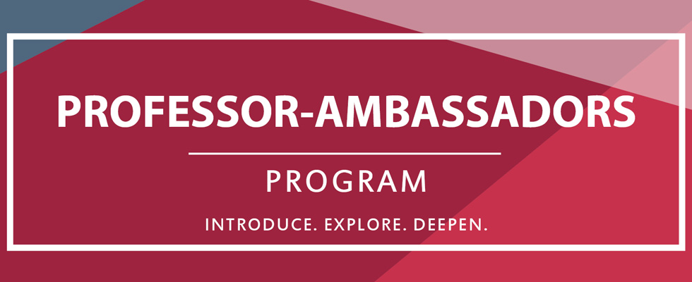Professor-Ambassadors Program 2017-2018