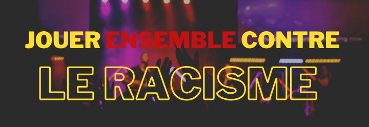 Bannière Jouer ensemble contre le racisme