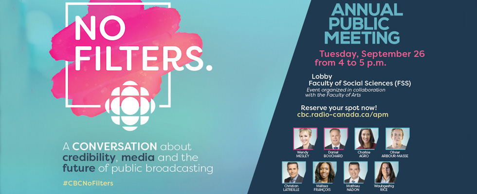Annual Public Meeting - A conversation about credibility, media and the future of public broadcasting - CBC Canada
