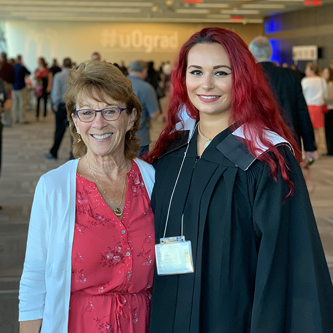 Student and proud mother - Convocation 2019