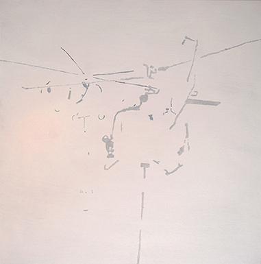 """Héliport, 2010 • acrylic on canvas • 48"""" x 48"""""""